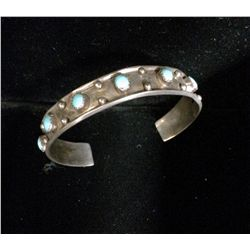 Turquoise & Sterling Cuff Bracelet