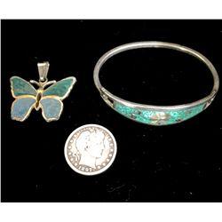Sterling Bracelet & Pendant