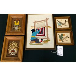Needlepoint and Sand Painting Art Lot