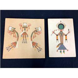 A Pair of Navajo Sand Paintings