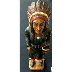 Vintage Wooden Indian