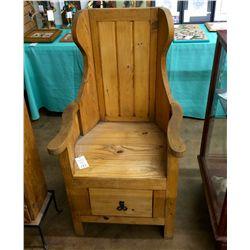 Vintage Southwestern Style Wood Chair