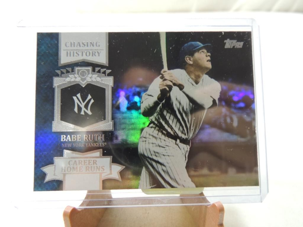 2013 Topps Chasing History Babe Ruth Card