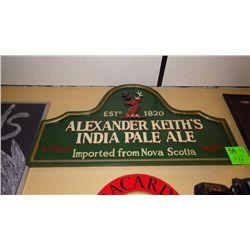 Alexander Keith's India Pale Ale plaque / Bacardi est. 1862 metal sign / Jack Daniel Old No 7 metal