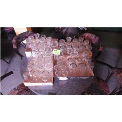 Variety of 52 beer glasses & 6 small glasses (4 trays)