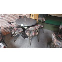 4 upholstered arm chairs with steel frame very solid and quality construction.