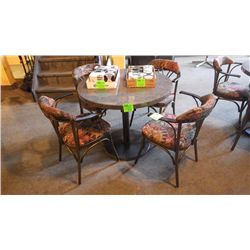 4 upholstered steel arm chairs with steel frame