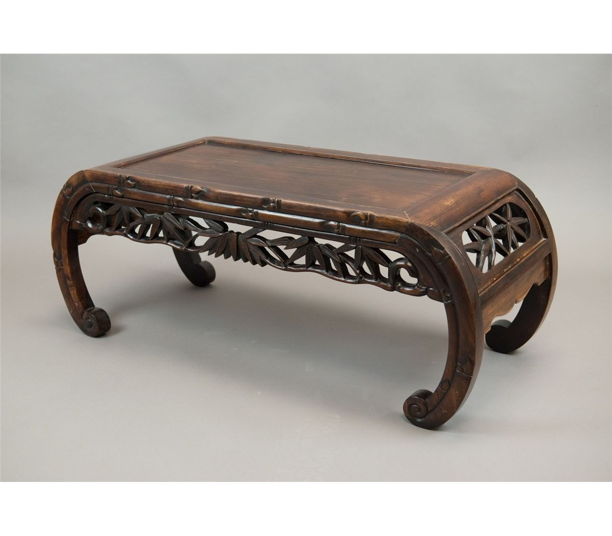 Chinese Rosewood Scroll Leg Kang Table. Loading Zoom