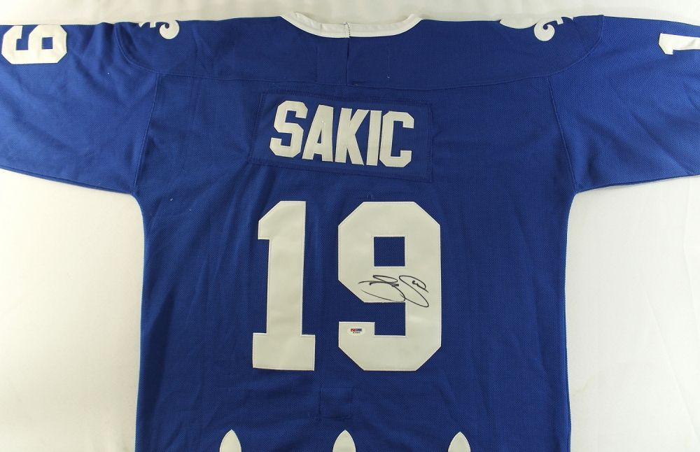 the latest 3108c a12e5 Joe Sakic Signed Nordiques Jersey (PSA COA)