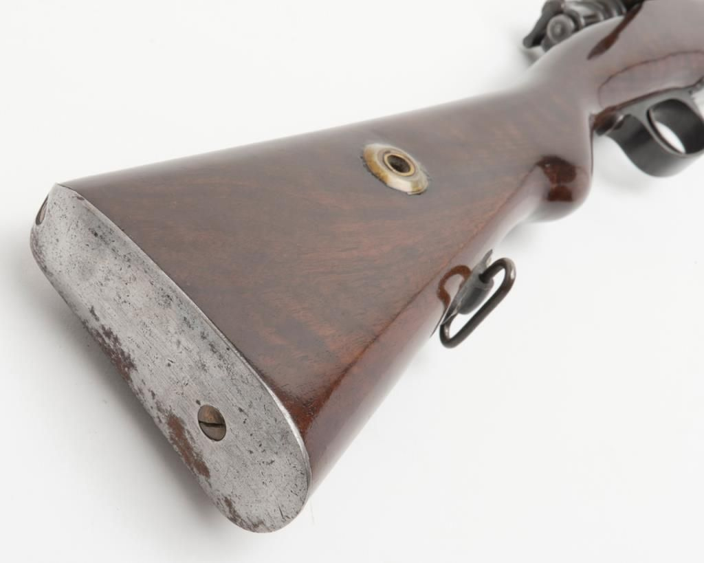 """Turkish Mauser bolt action rifle, 7mm cal , 29-1/2"""" barrel, military  finish, import-marked, re-fin"""