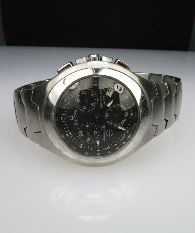 31517e1c1 Image 1 : Men's Popular Bulova Marine Star Chronograph AS10 Watch in stainless  steel with quartz ...