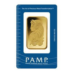 1 Troy Oz - 24 Karat Gold Bar - PAMP Suisse