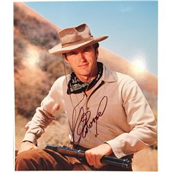 Clint Eastwood large color signed 11x14 as Rowdy Yates