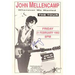 John Mellencamp signed concert poster from a 1992 show.