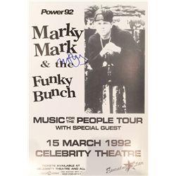 """Mark """"Marky Mark"""" Wahlberg signed 1992 original concert poster"""