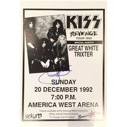 Gene Simmons signed 1992 KISS Revenge Tour concert poster