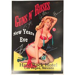 Guns N' Roses band signed 13x19 concert poster