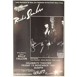 Richie Sambora signed 1991 concert poster