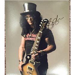 Slash from Guns N' Roses signed 11x14