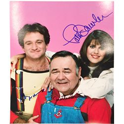 """Mork and Mindy plus one! Signed by Robin Williams, Pan Dawber and their """"child"""" Jonathan Winters"""