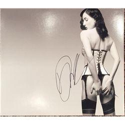 Dita Von Teese signed 11x14 sexy image