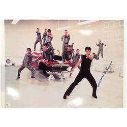 John Travolta signed 13x19 image from the movie Grease