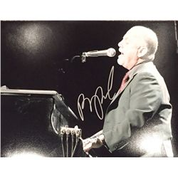 Billy Joel signed 11x14 behind the piano image