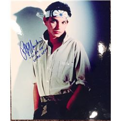 """Ralph Macchio color 11x14 as the Karate Kid signed adding the phrase """"Wax on Wax off"""""""