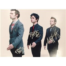 Green Day color large 11x14 image signed by all three members