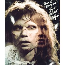 """Excorcist Linda Blair signed color glossy 11x14 she has added """"Regan"""" her characters name as well as"""
