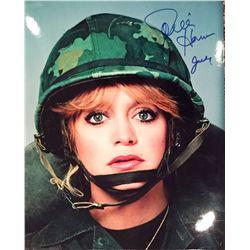 Goldie Hawn signed 11x14 as Judy Benjamin in Private Benjamin