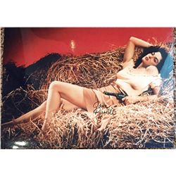 Jane Russell signed large 11x17 of the famous Hurrell hayloft