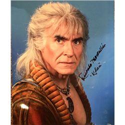 """Ricardo Montalban - Khan from Star Trek signed color 11x14 adding """"Khan"""""""