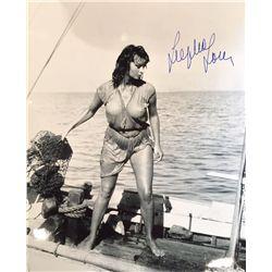 Sophia Loren signed 11x14 Boy on a Dolphin sexy wet shirt shots !