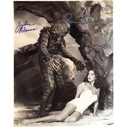 Creature of the Black Lagoon large 11x14 signed by Julie Adams and creature Ricou Browning