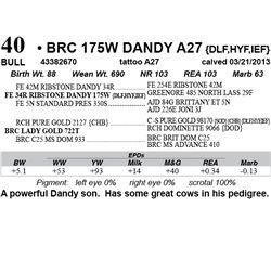 Lot 40 - BRC 175W DANDY A27 {DLF,HYF,IEF}