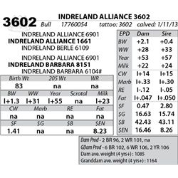 Lot 3602 - INDRELAND ALLIANCE 3602