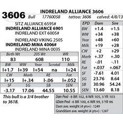 Lot 3606 - INDRELAND ALLIANCE 3606