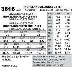 Lot 3616 - INDRELAND ALLIANCE 3616