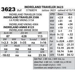 Lot 3623 - INDRELAND TRAVELER 3623