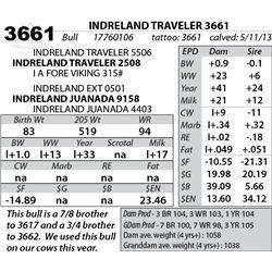 Lot 3661 - INDRELAND TRAVELER 3661