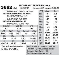 Lot 3662 - INDRELAND TRAVELER 3662