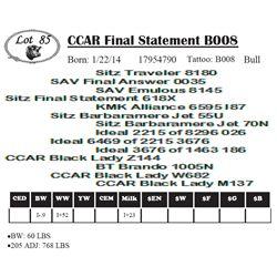 Lot 85 - CCAR Final Statement B008