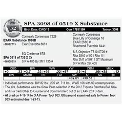 Lot 32 - SPA 3098 of 0519 X Substance