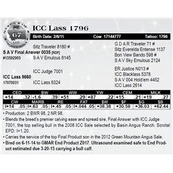 Lot 67 - ICC Lass 1796