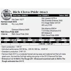 Lot 75 - Rich Clova Pride 0643