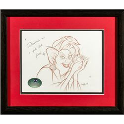 Disney Villains Madame Medusa Drawing from The Rescuers