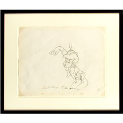 Production Drawing of Lampwick from Pinocchio Signed by Frank Thomas & Ollie Johnston