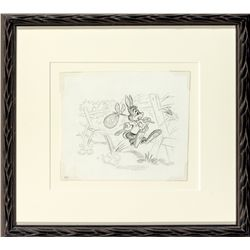 Brer Rabbit Pencil Drawing from Song of the South Book Art