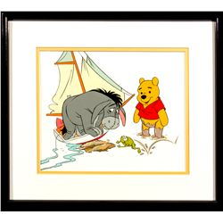 Winnie the Pooh & Eeyore Production Cel from The New Adventures of Winnie the Pooh